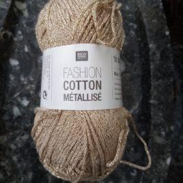 Fashion cotton metallisé DK